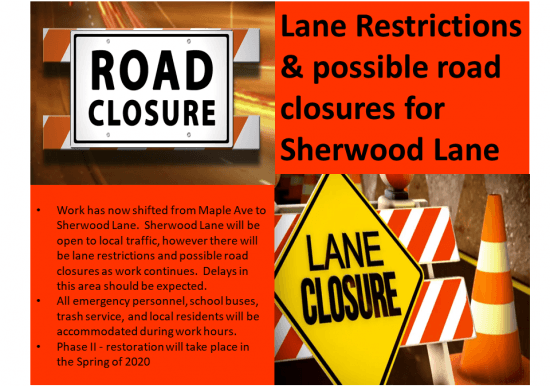 Sherwood Lane Restrictions and Closures Slideshow